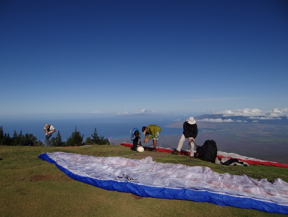Paragliding Over Maui Kula Hawaii United States