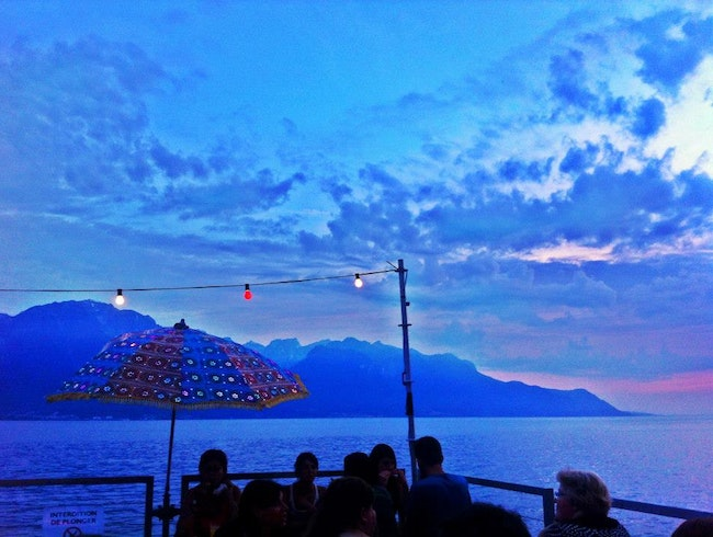 Montreux at night