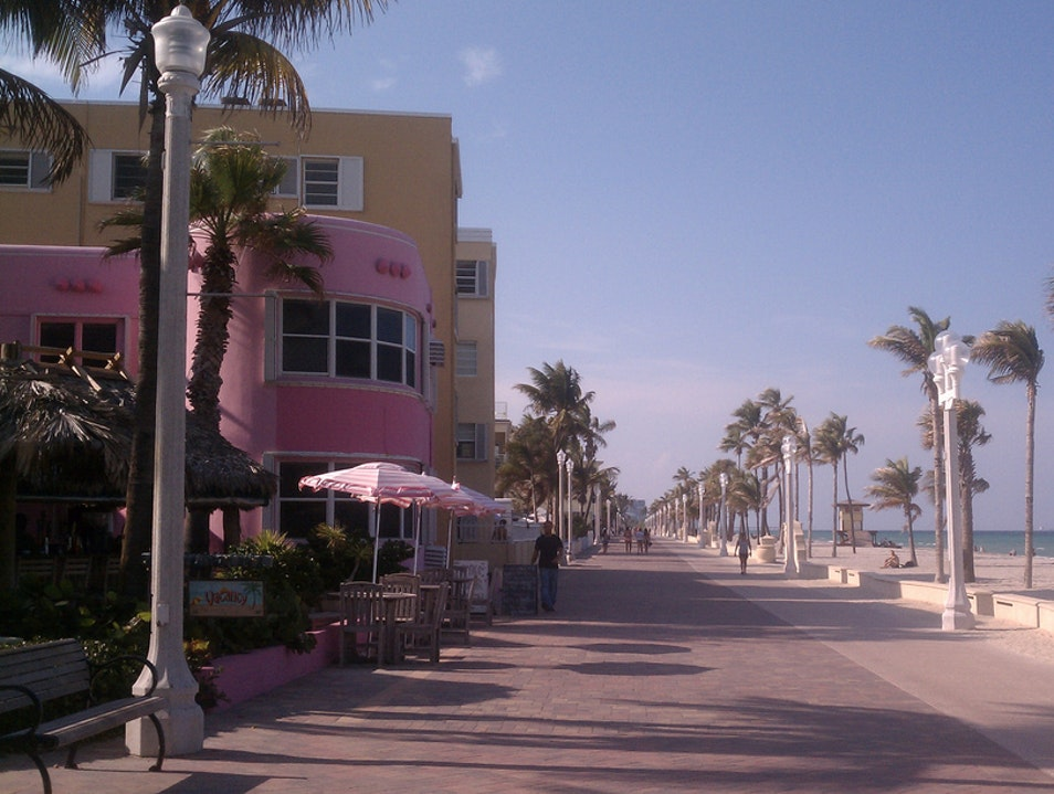 Live the Florida Life on the Hollywood Beach Boardwalk Fort Lauderdale Florida United States