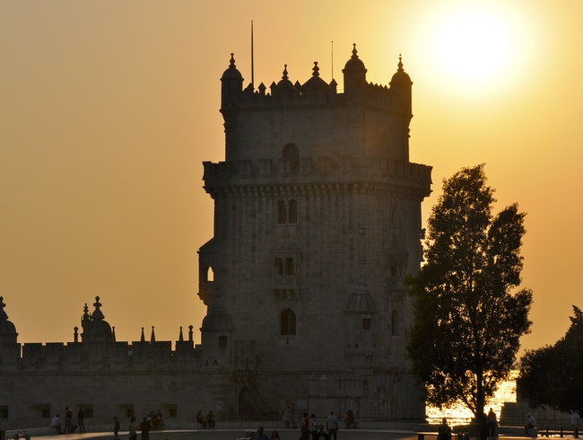 Sunset at Belem Tower