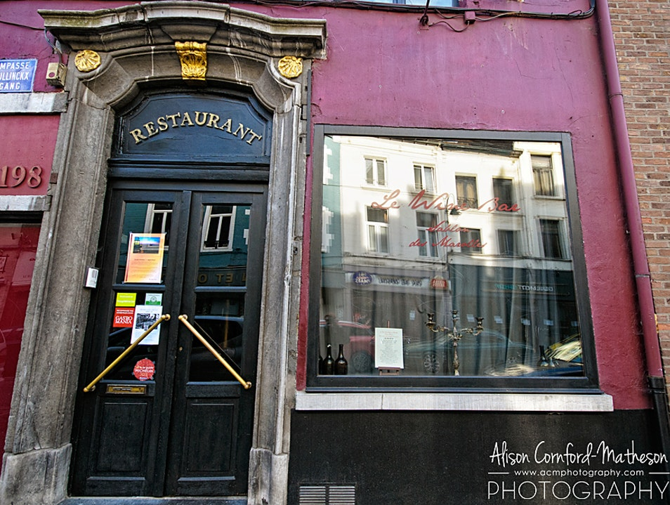 Excellent Wine and Food in Brussels Marolles