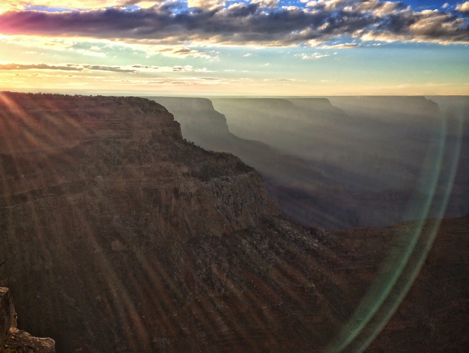 Sunset over the Grand Canyon North Rim Arizona United States