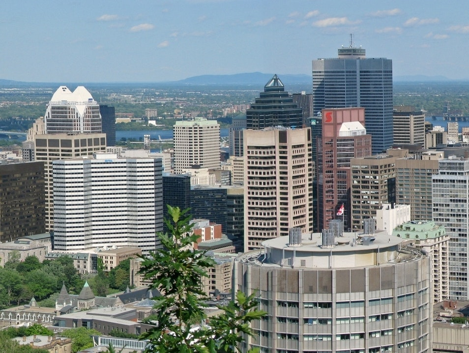 "Downtown, from ""The Mountain"" Montreal  Canada"