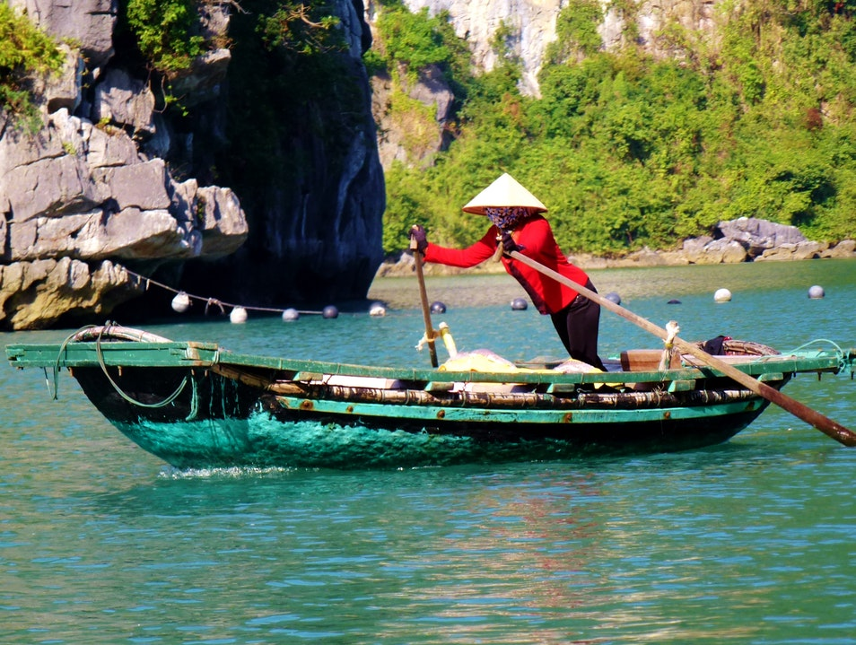 Local Transportation in Ha Long Bay Việt Hải  Vietnam