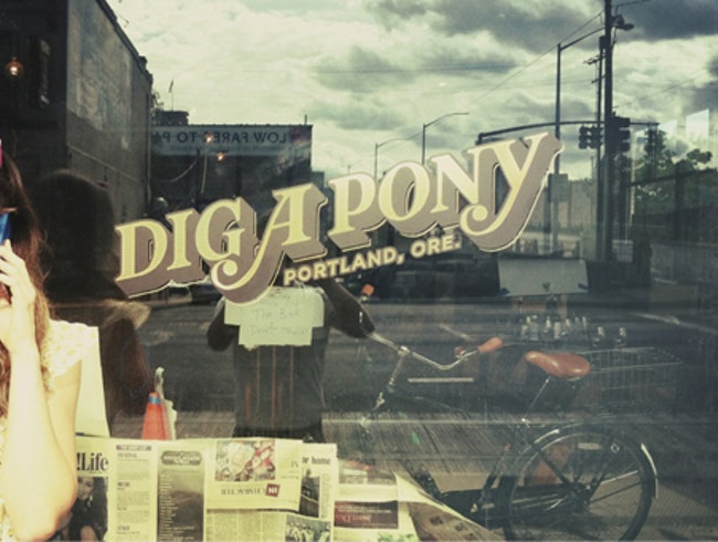 I'm digging Dig A Pony, Portland's hot new bar on the east side.