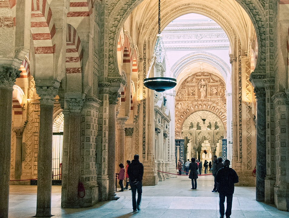 Moorish and Christian Architecture Together Cordoba  Spain
