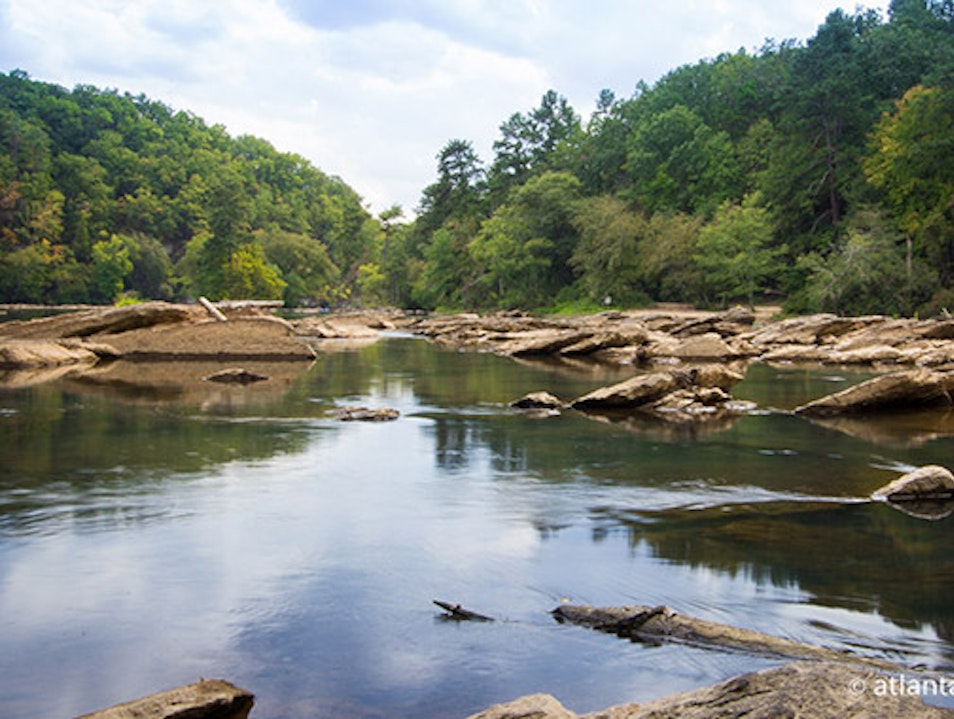 Escape the city and hike along the river. Atlanta Georgia United States