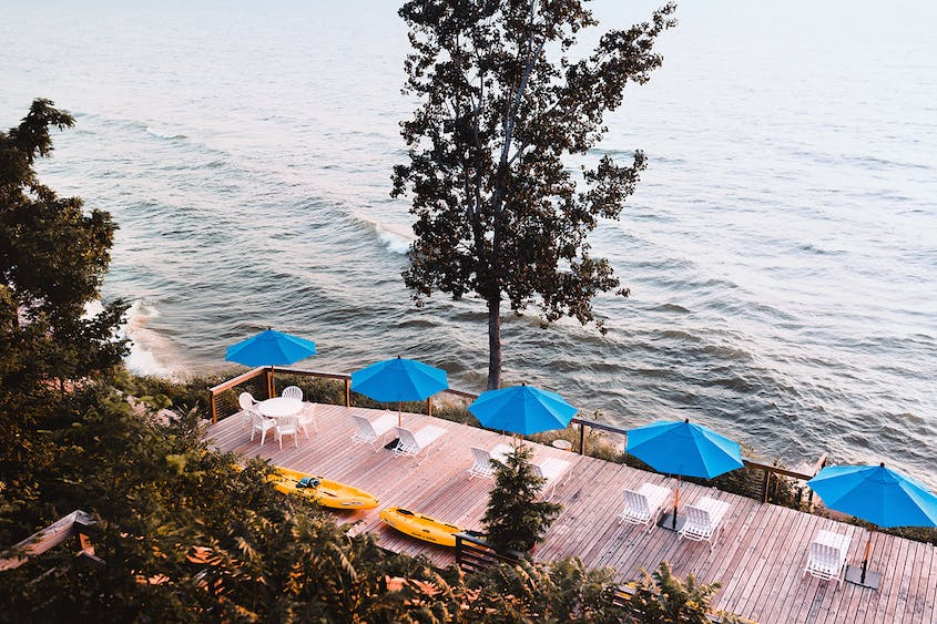 The Lake Shore Resort on Lake Michigan is just three miles from downtown Saugatuck.