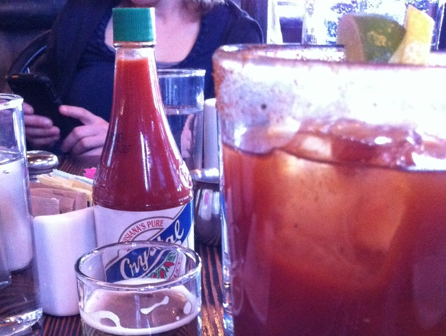 Margarita with a Beer Back at Longman & Eagle, Chicago