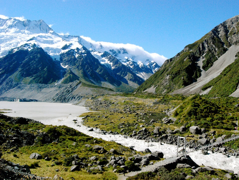 Cycling New Zealand Mount Cook National Park  New Zealand