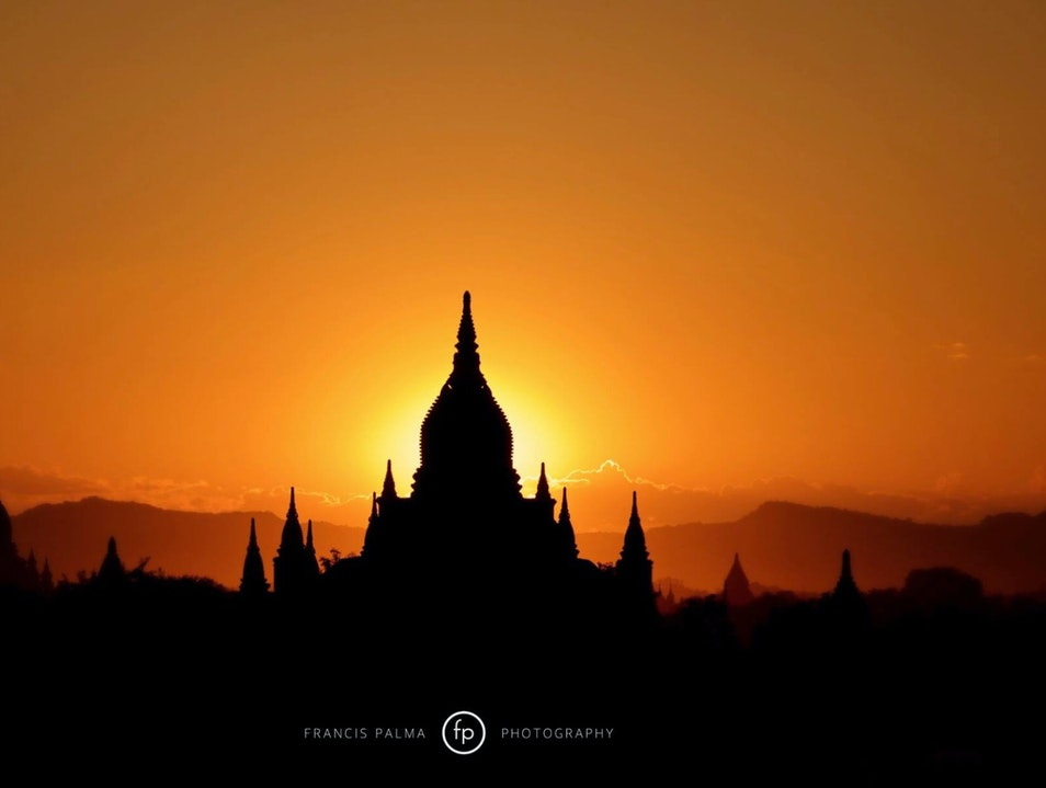 Sunset over Bagan Myingyan  Myanmar