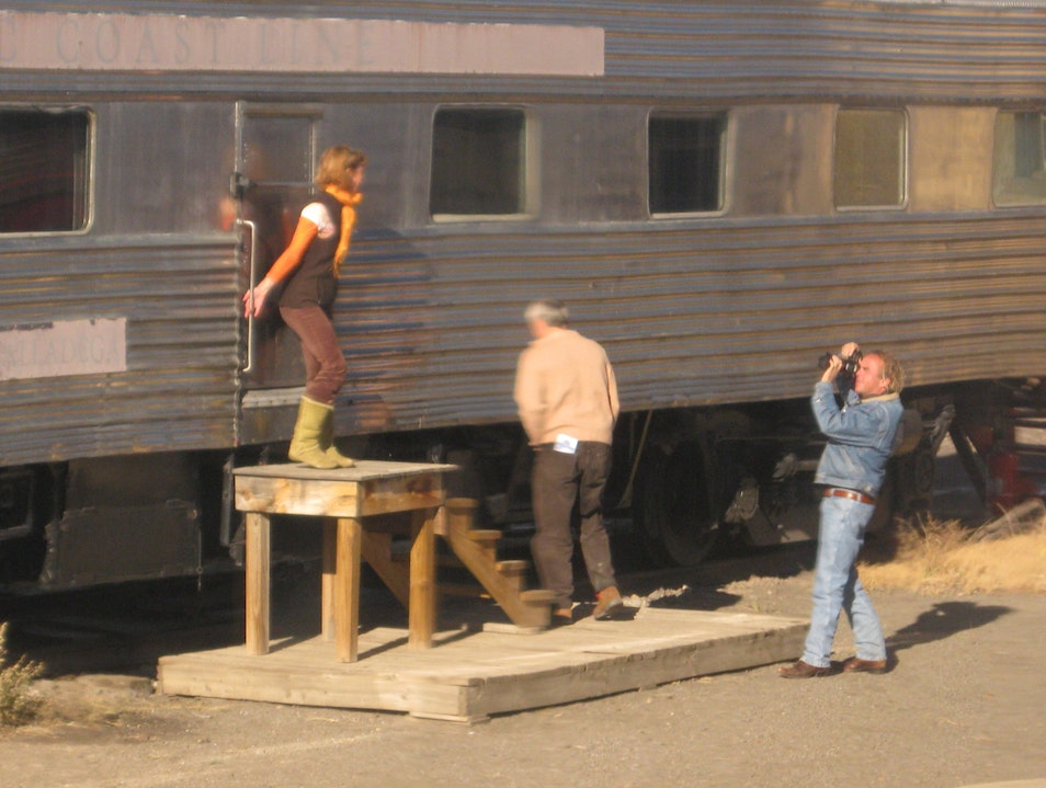 Random photo shoot, spotted from the train Lamy New Mexico United States