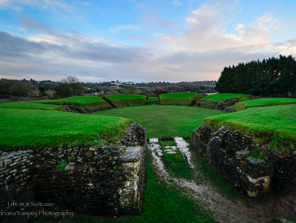 The Roman ruins in Caerleon