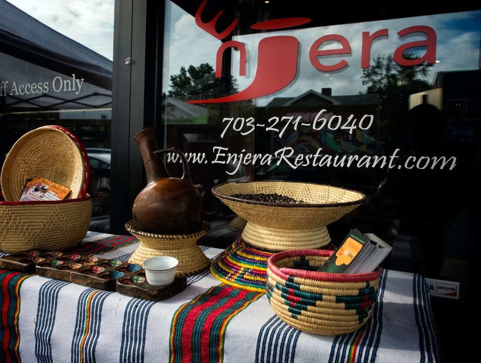 Ethiopian Experience at Enjera Restaurant Arlington Virginia United States
