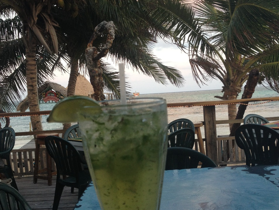 Mojitos to die for San Pedro  Belize