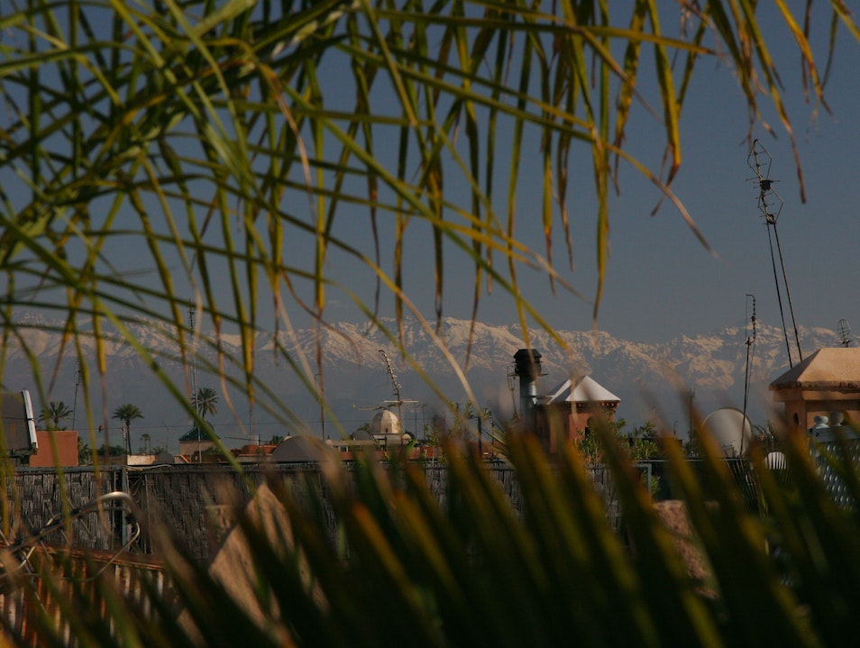 View from the roof of the Hotel Kniza, Marrakesh