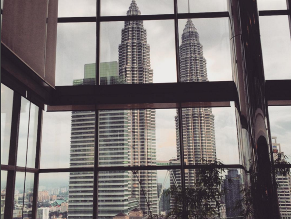 The Petronas Towers view from the Grand Hyatt