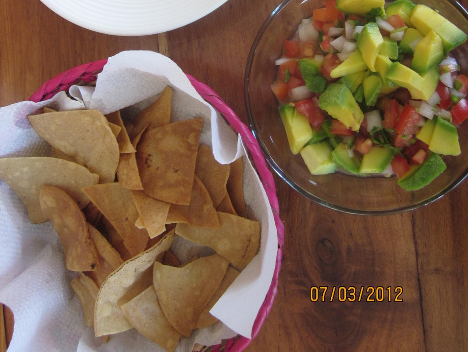 Beans, Tortillas, tomatoes and onions sauce, Learning AFAR