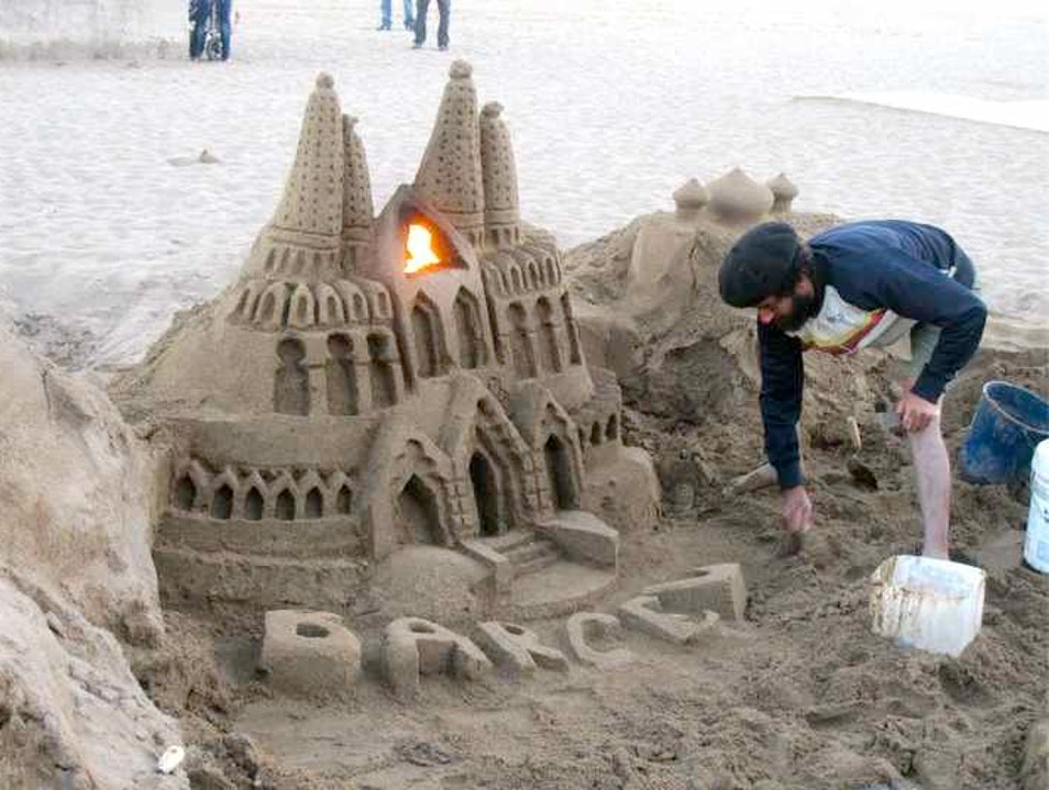 Spain's Sand Sculptors Barcelona  Spain