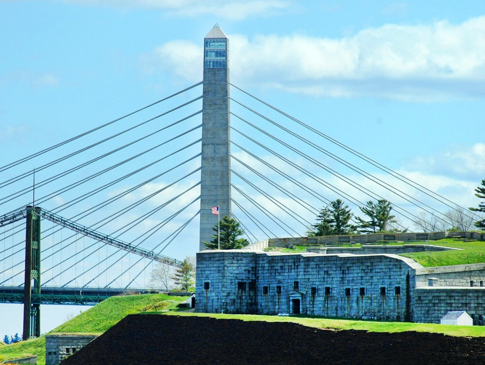 Fort Knox and Penobscot Narrows Bridge and Observatory Prospect Maine United States