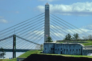 Fort Knox and Penobscot Narrows Bridge and Observatory