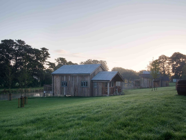 Relax in the Sauna at the Soho Farmhouse in Rural England