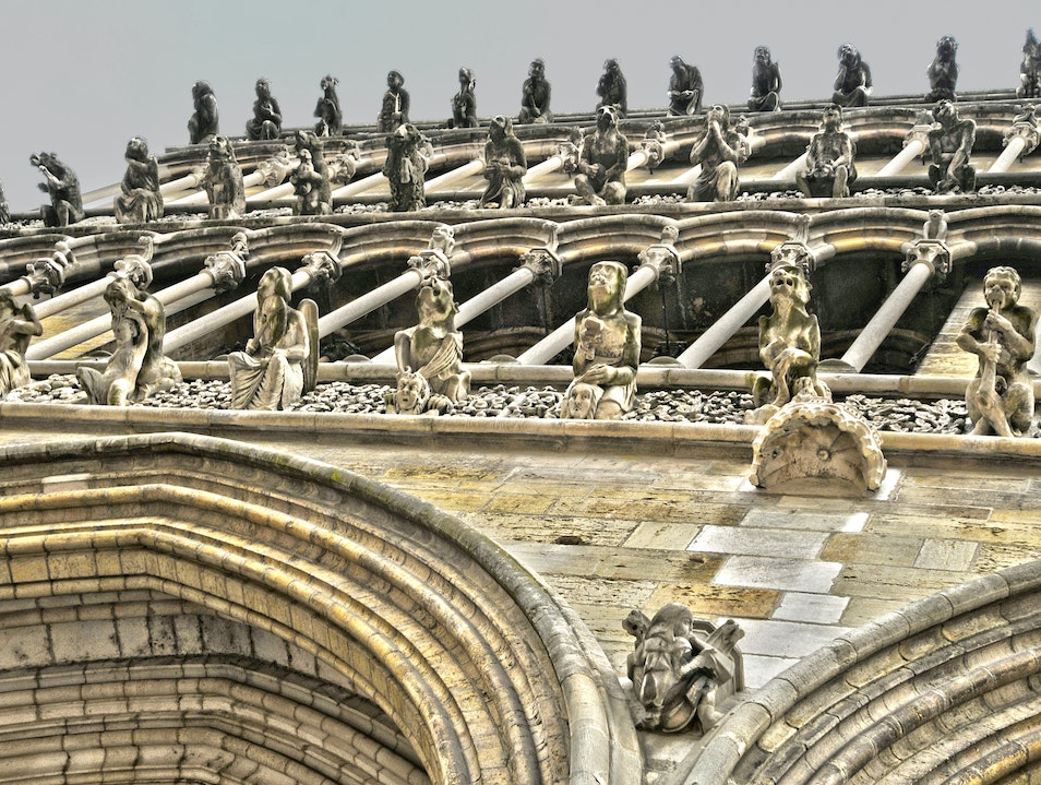 The False Gargoyles of Notre Dame de Dijon Dijon  France