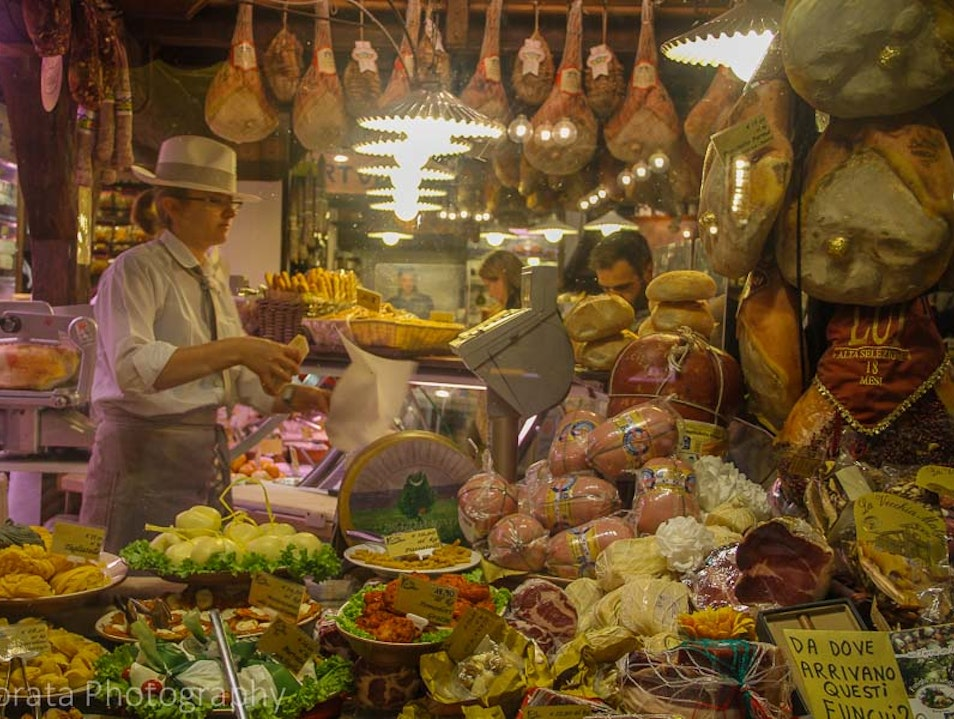 Food markets and street food of Bologna Bologna  Italy