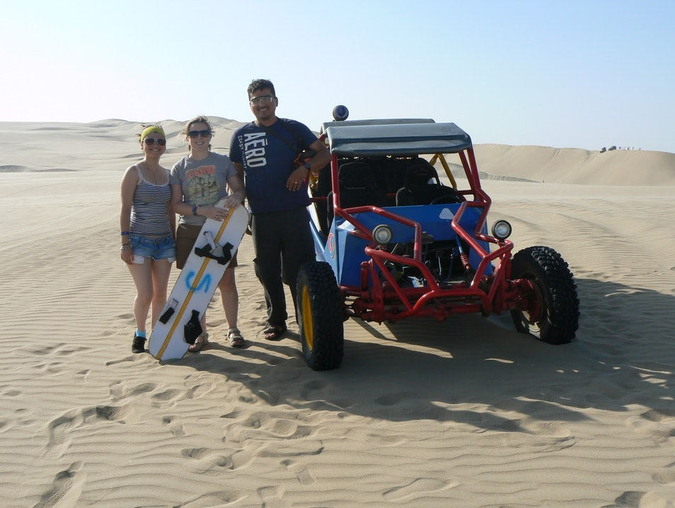 Speeding Up and Down Sand Mountains in a Peruvian Oasis Ica  Peru