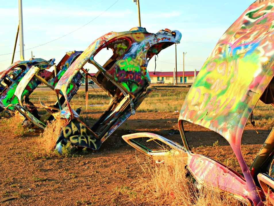 VW Beetle Ranch Panhandle Texas United States