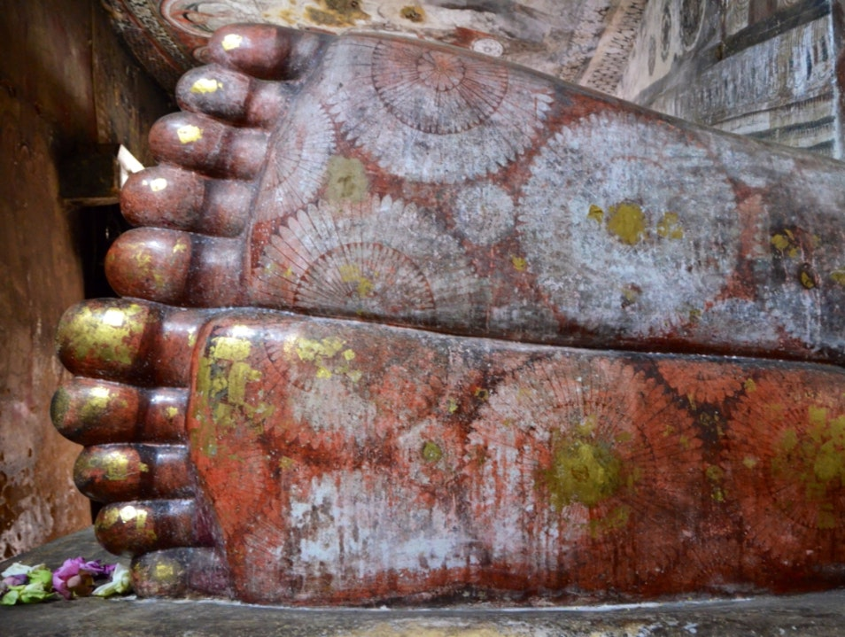 The Soles of Buddha Dambulla  Sri Lanka
