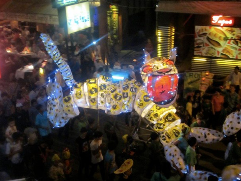 Giant Puppet Parade Siem Reap  Cambodia