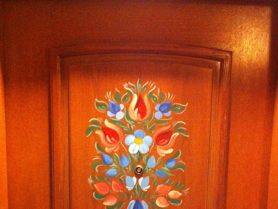 Hand-Painted Doors at the Fairmont Chateau Lake Louise