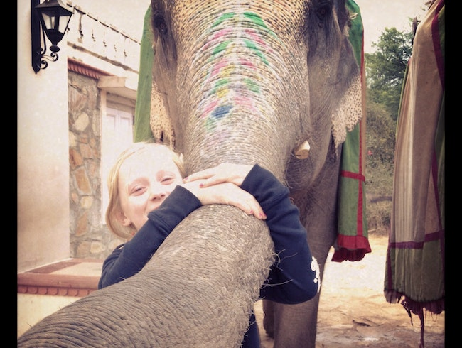 Grace and her Elephant - Jaipur