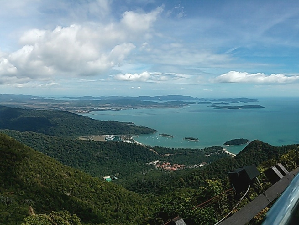 Panorama from the Top Langkawi  Malaysia