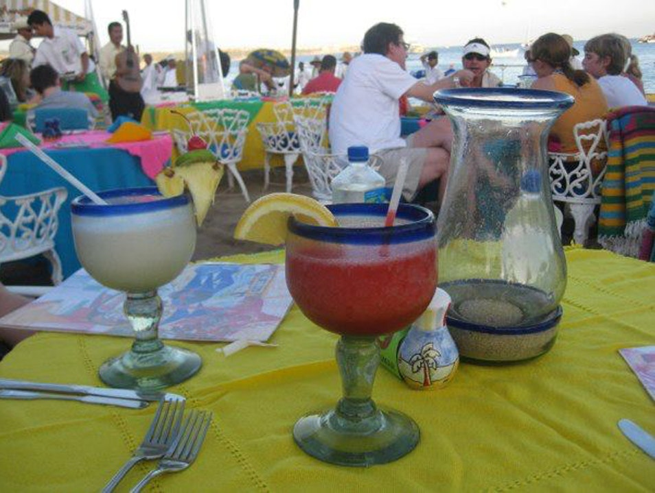 Margarita and Seafood at Beach Cabo San Lucas  Mexico