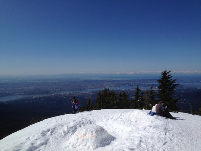 Snowshoeing on Mt. Seymour
