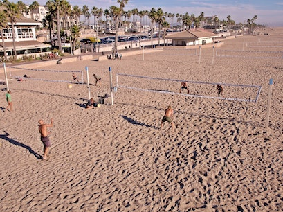 Huntington Beach Beach Volleyball Courts Huntington Beach California United States