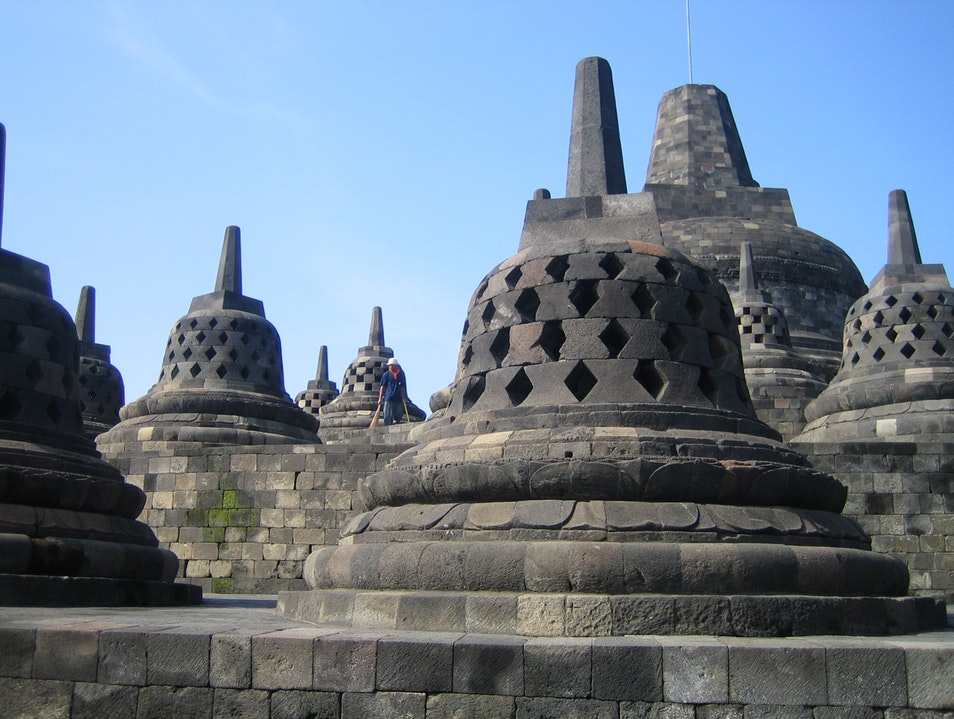 Beautiful stupas Borobudur  Indonesia
