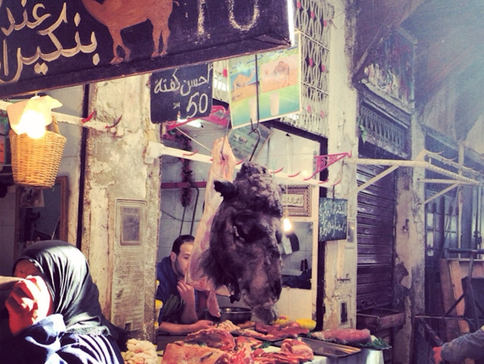 Meat in the Maze Fes  Morocco