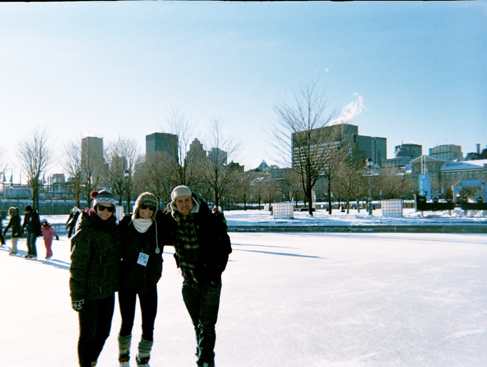 Ice Skating in Montreal Montreal  Canada
