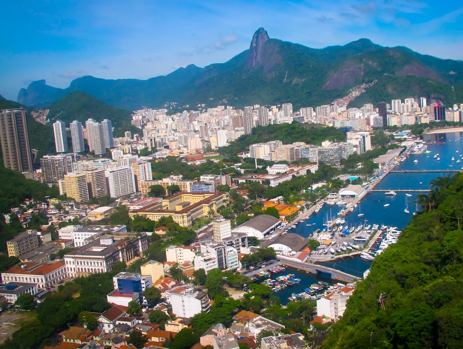View on top of Sugar Loaf - Rio, Brazil