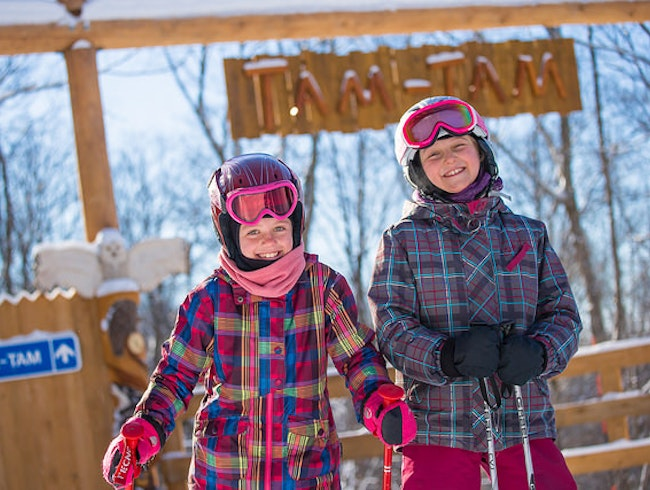New snow play trail for kids