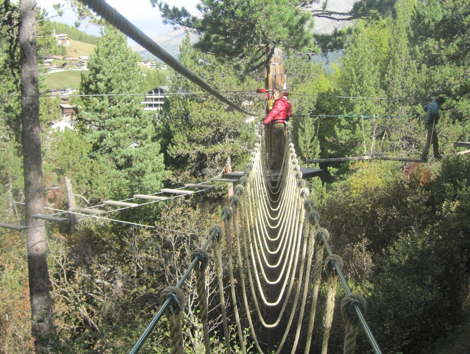 Treetop Adventures Saas Fee  Switzerland