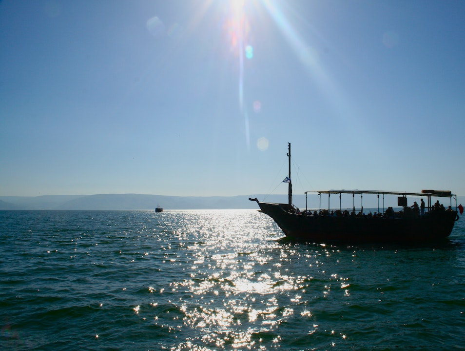 At sea of Galilee