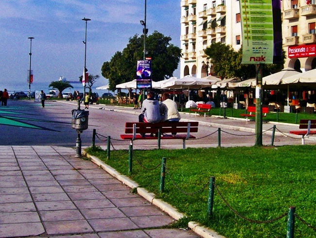 Aristotelous Square in Thessaloniki, Greece
