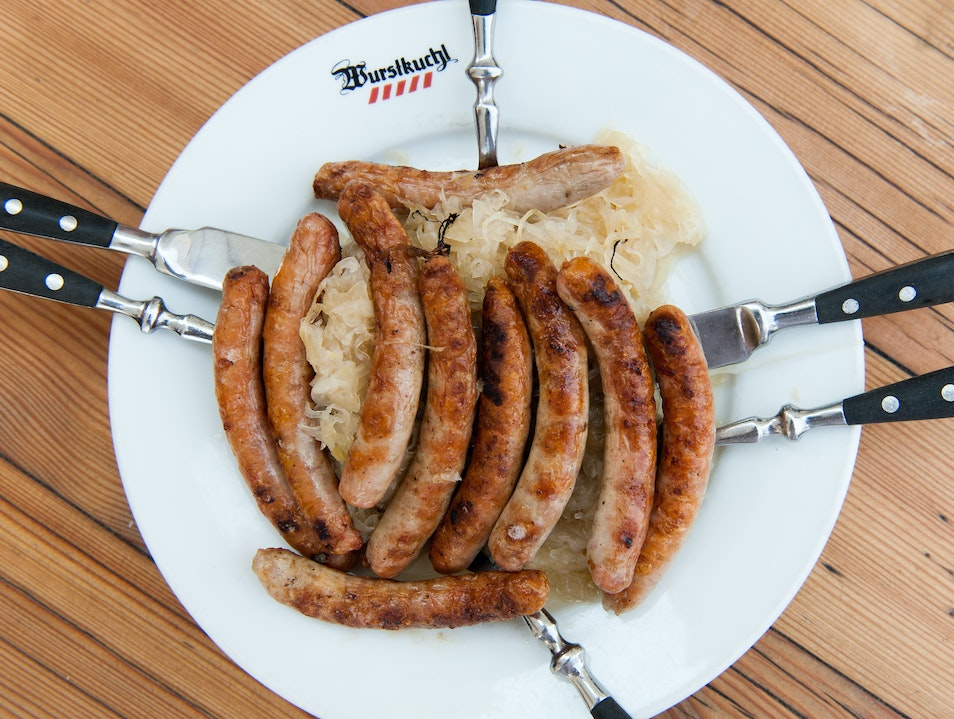 Secret-Recipe Sausages in Historic Tavern Regensburg  Germany