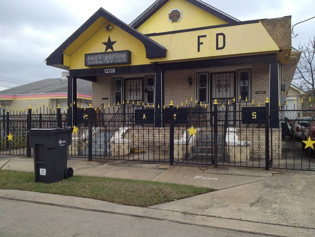 """Blueberry Hill"" Fats Domino Home in Lower Ninth Ward New Orleans"