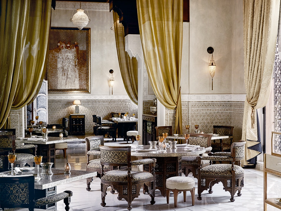 Fine Dining in Surrounds Fit for a King Marrakech  Morocco