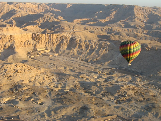 Ballooning Above the Temple of Hatshepsut, Upper Egypt